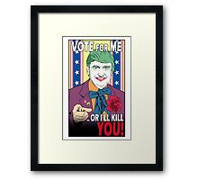 Donald doesn't like you! (Gotham Version) Framed Print