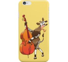 Cool Okapi Playing a Double Bass iPhone Case/Skin
