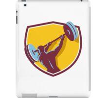 Weightlifter Swinging Barbell Rear Crest Retro iPad Case/Skin