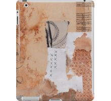 Rusted Paper & Crosses Collage iPad Case/Skin