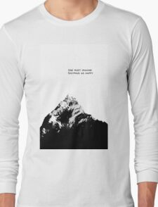 One Must Imagine Sisyphus as Happy Long Sleeve T-Shirt