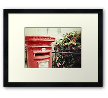 Postbox and Camellias Framed Print