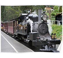Puffing Billy steam train engine, Australia Poster