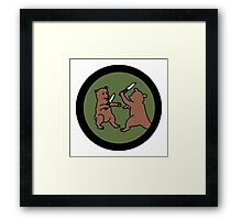 4chan /out Bears Patch Framed Print
