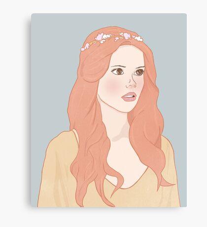Pastel color girl Canvas Print