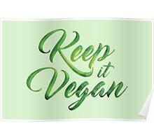 Keep it Vegan 01 - Happy quote Poster