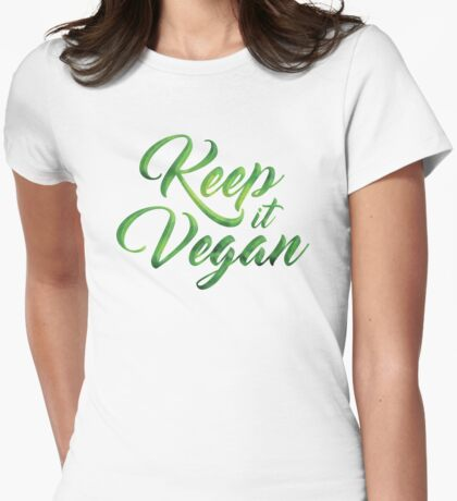 Keep it Vegan 01 - Happy quote Womens Fitted T-Shirt
