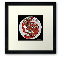 A Rolling Stone Gathers No Moss Framed Print