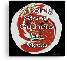 A Rolling Stone Gathers No Moss Canvas Print