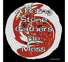 A Rolling Stone Gathers No Moss Photographic Print