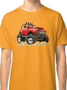 Cartoon Jeep Wrangler Classic T-Shirt