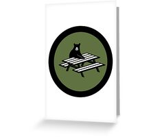 4chan /Out Bear Patch Greeting Card