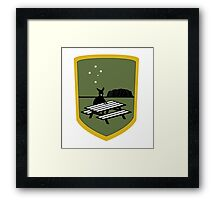 4chan /Out Aussie Patch Framed Print