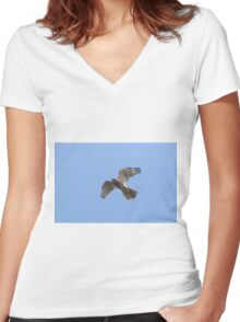 The Elusive Hawk Women's Fitted V-Neck T-Shirt