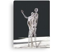 Silver Statues Canvas Print