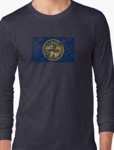 Nebraska Splatter Long Sleeve T-Shirt
