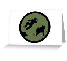 4chan /Out Patch - Bodyslam! Greeting Card