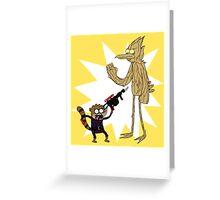 Rocket Rigby and Mordegroot Greeting Card