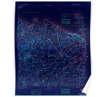 USGS TOPO Map New Jersey NJ Sandy Hook 255363 1893 62500 Inverted Poster