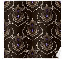 Seamless pattern ornament with stylized geometric elements background. Repeating texture modern graphic design Poster