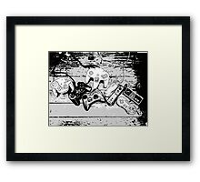 Collection de manettes - Joysticks collection Framed Print