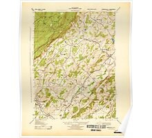 USGS TOPO Map New Jersey NJ Branchville 255035 1943 31680 Poster