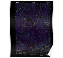 USGS TOPO Map Rhode Island RI Carolina 20120518 TM Inverted Poster
