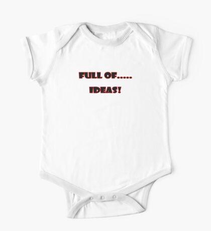 Full of ..... Ideas T-Shirt Sticker One Piece - Short Sleeve