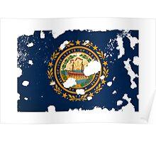 New Hampshire Splatter Poster