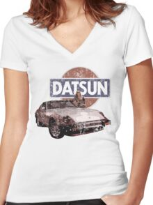 Vintage Datsun 280zx Women's Fitted V-Neck T-Shirt