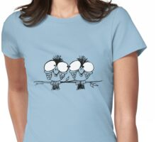White Eyes Womens Fitted T-Shirt