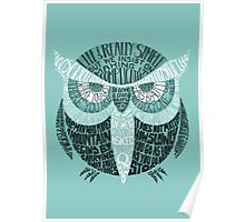 Wise Old Owl Says (in Green) Poster