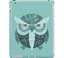 Wise Old Owl Says (in Green) iPad Case/Skin