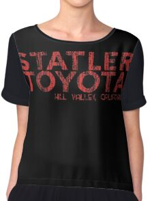 Distressed Statler Toyota Chiffon Top