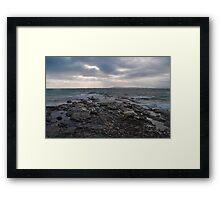 Landscape on the Isle of Berneray Outer Hebrides Scotland UK Framed Print