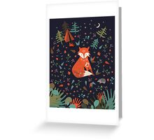 Camping With Fox Greeting Card