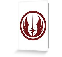 Jedi Order Symbol Greeting Card