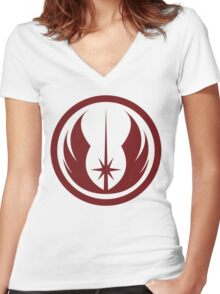 Jedi Order Symbol Women's Fitted V-Neck T-Shirt