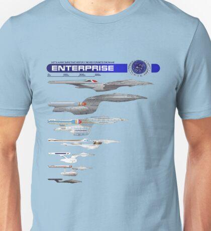 U.S.S. Enterprise Lineage Unisex T-Shirt