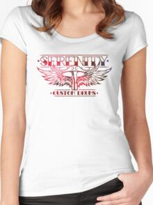Serenity Logo - Red Nebula Women's Fitted Scoop T-Shirt