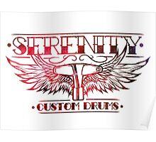 Serenity Logo - Red Nebula Poster