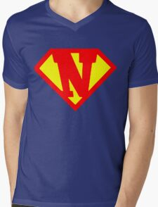 Super N Mens V-Neck T-Shirt