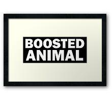BOOSTED ANIMAL Framed Print