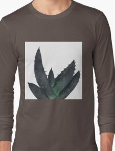 Succulent Aloe Vera Plant Long Sleeve T-Shirt