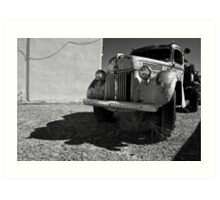 Old Vehicle VII  BW - Ford Truck Art Print