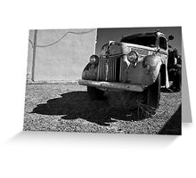 Old Vehicle VII  BW - Ford Truck Greeting Card