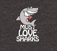 Must love sharks Zipped Hoodie