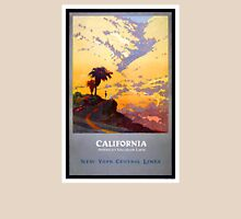 California Vintage Travel Poster Restored Unisex T-Shirt