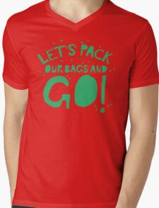 Let's pack our bags and GO! Mens V-Neck T-Shirt