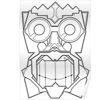 Vector Mask One - Black & White Poster